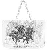The Thunder Of Hooves - Horse Racing Print Weekender Tote Bag