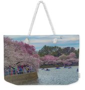 The Tidal Basin During The Washington D.c. Cherry Blossom Festival Weekender Tote Bag