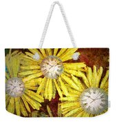The Time Flowers Weekender Tote Bag