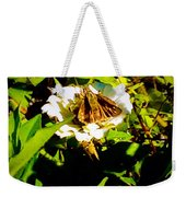 The Tiniest Skipper Butterfly In The Garden Weekender Tote Bag