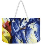 The Tower Of Blue Horses 1913 Weekender Tote Bag