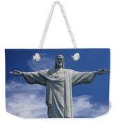 The Towering Statue Of Christ Weekender Tote Bag