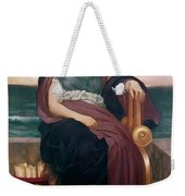 The Tragic Poetess Weekender Tote Bag by Frederic Leighton