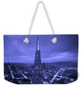 The Transamerica Pyramid At Sunset Weekender Tote Bag