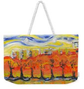 The Trees In Red. Day_march, 28  2015, Nizhny Novgorod, Russia_ Weekender Tote Bag