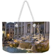 The Trevi Fountain At Dusk Weekender Tote Bag