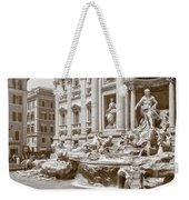 The Trevi Fountain In Sepia Tones Weekender Tote Bag