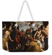 The Triumphal Entry Of Christ In Jerusalem Weekender Tote Bag