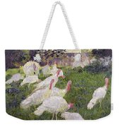 The Turkeys At The Chateau De Rottembourg Weekender Tote Bag by Claude Monet