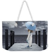 The Turquoise Parasol Weekender Tote Bag