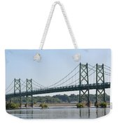 The Twin Bridges Weekender Tote Bag
