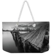 The Twisted Pier Bw Weekender Tote Bag