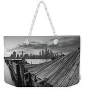 The Twisted Pier Panorama Bw Weekender Tote Bag