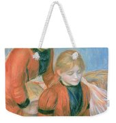 The Two Sisters Weekender Tote Bag by Pierre Auguste Renoir