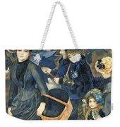 The Umbrellas Weekender Tote Bag by Pierre Auguste Renoir
