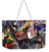 The Unfortunate Land Of Tyrol Franz Marc Painting Of Horses In A Valley Near A Cemetery  Weekender Tote Bag