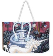 The Unicorn And Garden Weekender Tote Bag by Genevieve Esson