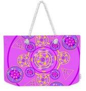 The Universal Spin Of Violet Weekender Tote Bag