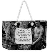 The U.s. Marines Salute The U.s. Coast Weekender Tote Bag by Stocktrek Images