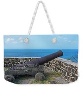 The View From Fort Rodney On Pigeon Island Gros Islet Saint Lucia Cannon Weekender Tote Bag