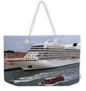 The Viking Star Cruise Liner In Venice Italy Weekender Tote Bag
