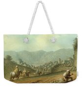 The Village Of Betania With A View Of The Dead Sea Weekender Tote Bag