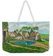 The Village Pond In Wroxton Weekender Tote Bag