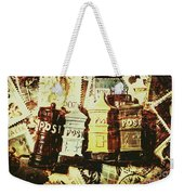 The Vintage Postage Card Weekender Tote Bag