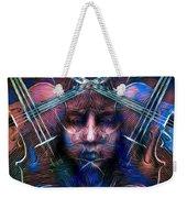 The Violinist Dual Tone   Weekender Tote Bag