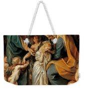 The Virgin Adorned With Flowers Weekender Tote Bag
