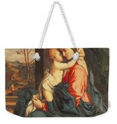 The Virgin And Child Embracing Weekender Tote Bag by Giovanni Battista Salvi