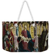 The Virgin And Child Enthroned With Angels And Saints Weekender Tote Bag