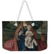 The Virgin And Child In A Landscape Weekender Tote Bag