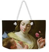 The Virgin And Child With A Rose Weekender Tote Bag