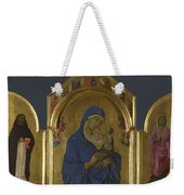 The Virgin And Child With Saints Dominic And Aurea Weekender Tote Bag