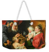 The Virgin And Child With St. John And His Parents Weekender Tote Bag