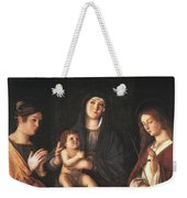 The Virgin And Child With Two Saints Prado Giovanni Bellini Weekender Tote Bag