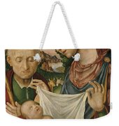 The Virgin And Saint Joseph  Adoring The Christ Child Weekender Tote Bag