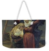 The Virgin At The Foot Of The Cross Weekender Tote Bag by Jean Joseph Weerts