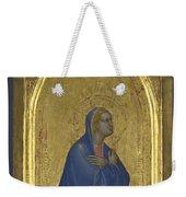 The Virgin   Left Pinnacle Panel Weekender Tote Bag