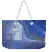 The Virgin Mary Cared For Her Child Jesus With Simplicity And Joy Weekender Tote Bag