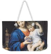 The Virgin Of The Grapes Weekender Tote Bag by Pierre Mignard