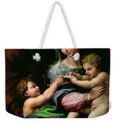 The Virgin Of The Rose Weekender Tote Bag
