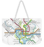 The Washington, D. C. Pubway Map Weekender Tote Bag
