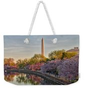 The Washington Monument And The Cherry Blossoms Weekender Tote Bag