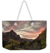 The Watchman Sunset Weekender Tote Bag