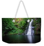 The Waterfall And Large Pool Of Vieiros Weekender Tote Bag
