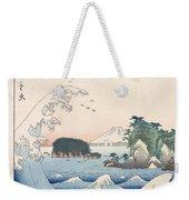 The Wave Weekender Tote Bag by Hiroshige