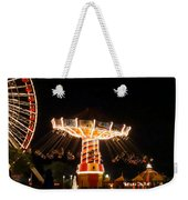The Wave Swinger Ride Navy Pier Chicago Weekender Tote Bag