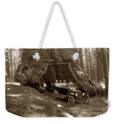 The Wawona Tree Mariposa Grove, Yosemite  Circa 1916 Weekender Tote Bag